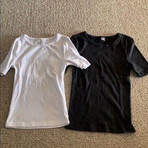 Set of 2 American Apparel ribbed T shirts S